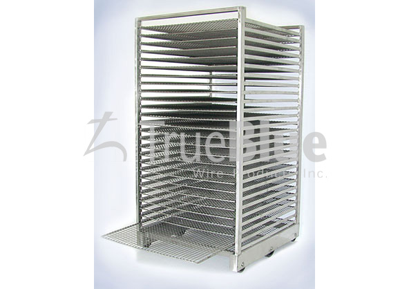 large galvanized wire rack